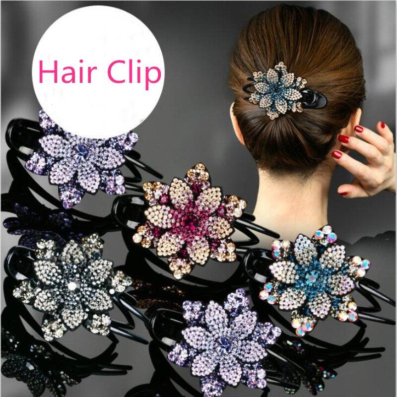 Купить женские заколки для волос с цветами корейские простые темпераментные