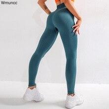 Wmuncc enerji dikişsiz tayt kadın spor koşu Yoga pantolon yüksek bel karın kontrol spor tayt spor salonu aşınma