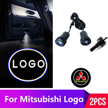 2 sztuk Led drzwi samochodu światło dla Mitsubishi logo światło dla asx lancer 10 outlander godło cień duch światła akcesoria tanie i dobre opinie IMBNUZER CN (pochodzenie) Światło na powitanie 12 v car welcome light wire Logo lights