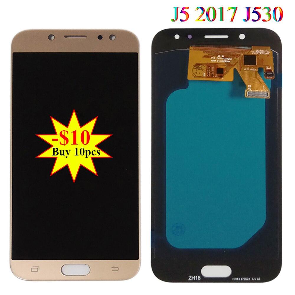 Testé Super AMOLED LCD pour Samsung J5 Pro 2017 J530 J530F J530M J530G J530Y affichage écran tactile panneau numériseur pièces d'assemblage