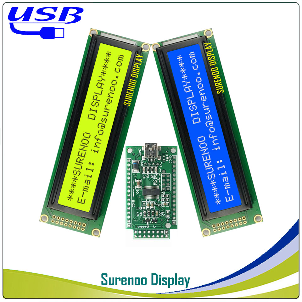 LCD2USB USB 242 24X2 2402 Character LCD Module Display Screen Panel Sutible LCD Smartie & AIDA64 For DIY PC