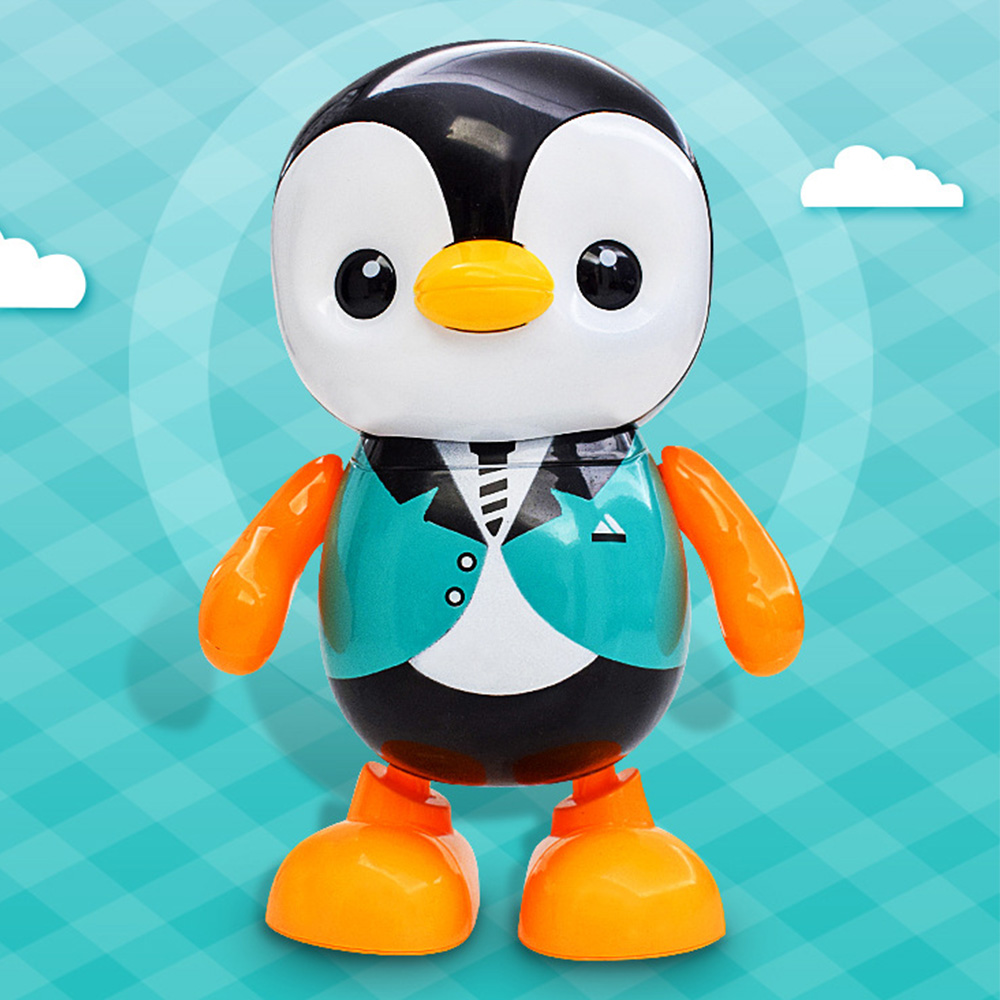 Kids Cartoon Dancing Penguin Electric Toy Lovely Singing Colorful Electric Little Penguin Education Toys For Children Baby Gift