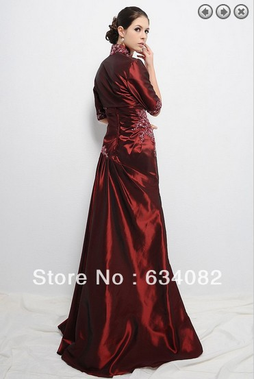 free shipping 2016 formal dresses women elegant dress plus size vestidos formales long Mother of the Bride Dresses with jacket