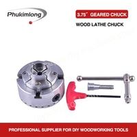 Phukimlong 3.75 inch 4 jaw self centering wood lathe chuck Scroll chuck mini lathe woodworking machine tool accessories chuck