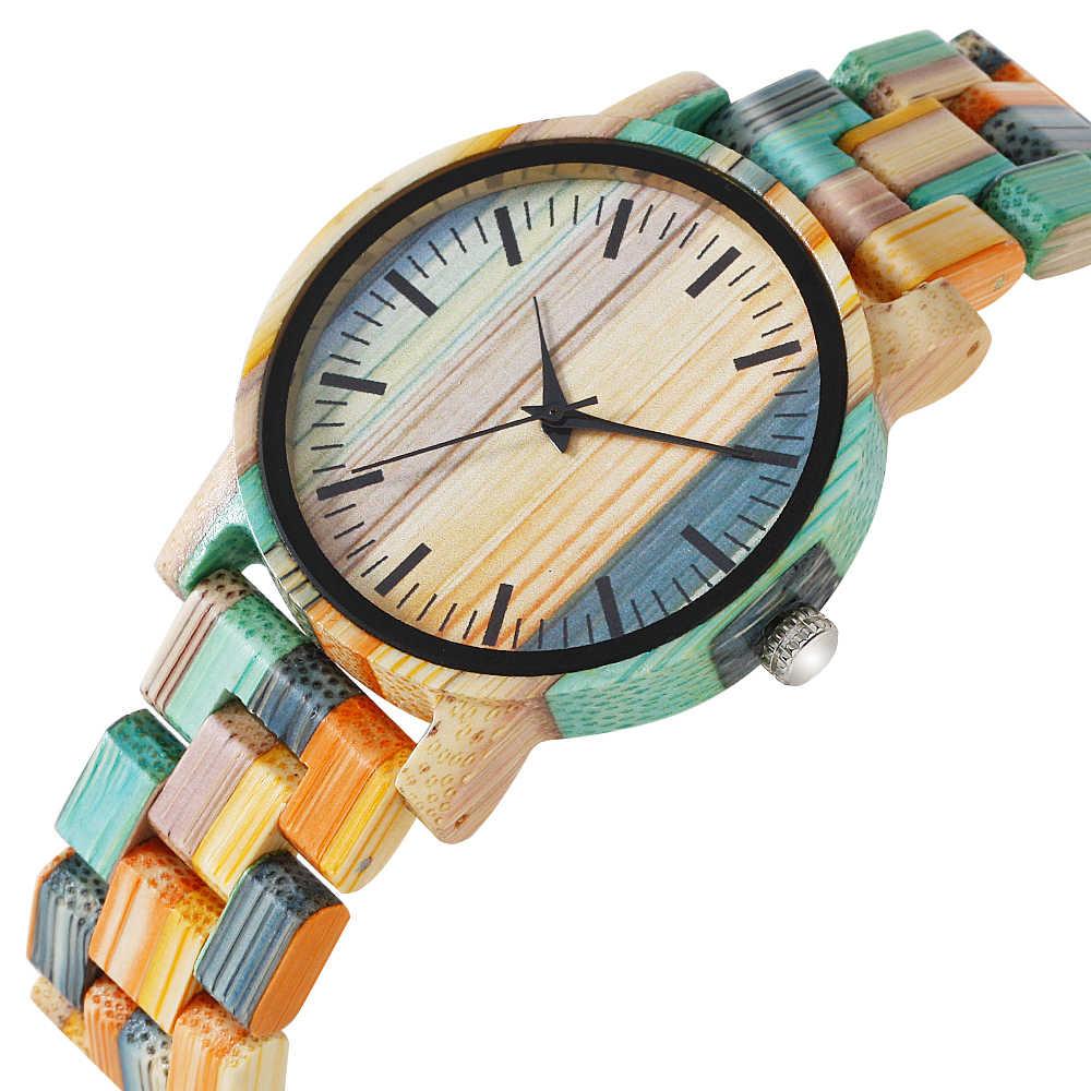 QW กีฬา Montre Dama Madera Relojes De Mujer ไม้ไผ่ Lady ผู้หญิงที่กำหนดเองนาฬิกาข้อมือนาฬิกาผู้ชายและผู้หญิง