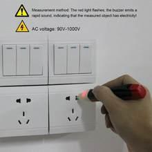 Podwójny przycisk listwa sieciowa Tester napięcia elektryczny długopis testowy bezdotykowy indukcyjny długopis testowy czujnik detektora cil