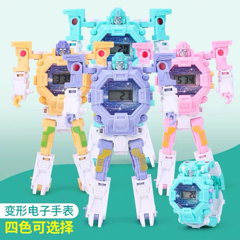 Transformers Electronics Wrist Watch Toys Children Cartoon Alpinia Oxyphylla Robot Electronics Wrist Watch Toys