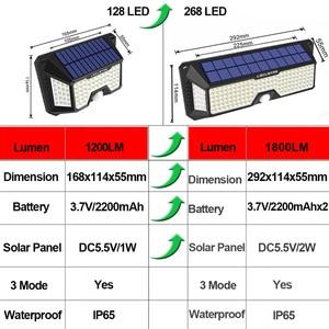 Image 5 - Waterdichte 128/268 Led Solar Lamp Motion Sensor Zonne energie Lichten Outdoor Security Verlichting Voor Veranda/Tuin/Straat/wandlamp