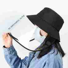 Hat Baseball-Cap Protective Face-Shield Anti-Droplet Black Cover-Face Fisherman Dust-Proof