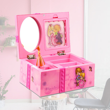 Gift Musical Jewelry Box Kids Toy With Mirror Bedroom Wind Up Ring Organizer DIY Storage Ballerina Girl Cute Home Decor Table