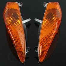 Motorcycle Front ABS Turn Indicator Signal Lens For BMW R1200RT R900RT 2006-2009 Orange/Clear