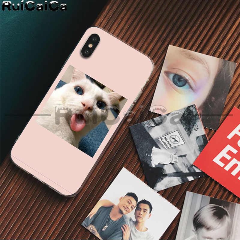 RuiCaiCa חמוד בעלי החיים חתול כלב אמנות חכם כיסוי רך פגז טלפון מקרה עבור iPhone 8 7 6 6S בתוספת X XS מקסימום 5 5S SE XR 11 11pro