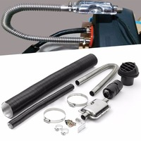 1 Set 24mm Exhaust Silencer Filter Pipe 60mm Outlet Set Air Intake Filter Pipe Clamps For Eberspacher Air Heater