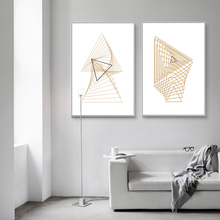 Abstract Nordic Gold Lines Canvas Painting Poster Print Wall Art Picture for Living Room Bedroom Office Decoration Home Decor 100% new lenovo g570 g575 bottom case cover