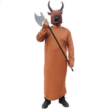 Ox-Head and Horse-Face costumes for adults halloween demon clothing carnival party horrible devil wear