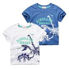 2019 New Cotton Boys T Shirt Summer Cartoon Dinosaur Shirt Short Sleeve O-Neck Cute T-Shirt for Kids Boys Tee Shirt Tops cotton boys t shirt excavator summer 2019 cartoon frog printed short sleeve t shirt for kids boys tee shirt dinosaur tops