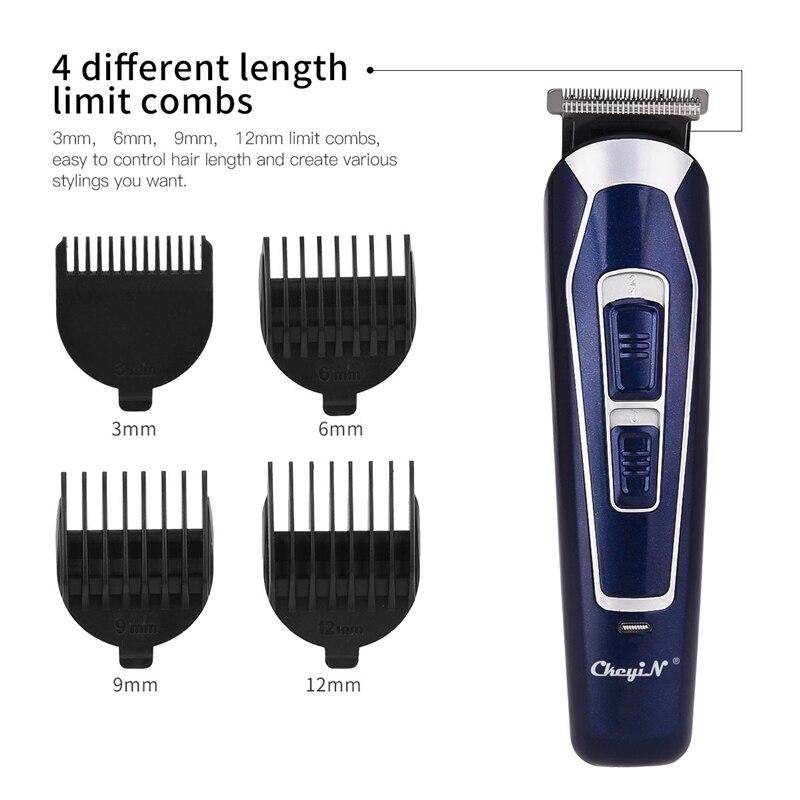 Profissional máquina de cortar cabelo elétrica barbeador aparador barba navalha recarregável à prova dwaterproof água aparador cabelo máquina corte para homem 48