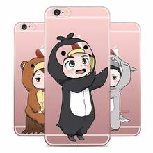Exo kpop Lucky one Style Clear Soft TPU Phone Cases for Apple iPhone X 8 7 6 6s Plus 5 5S SE 5C X XR XS MAX CASE COVER
