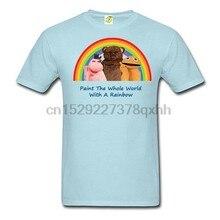 Retro 80 tv arco-íris camisa zippy george bungle novo unisex todos os tamanhos