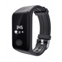 Modieuze Smart Armband Bluetooth Smart Horloge Waterdicht K1 Smartwatch Lichtgewicht Hartslag Polshorloge Drop Ship(China)