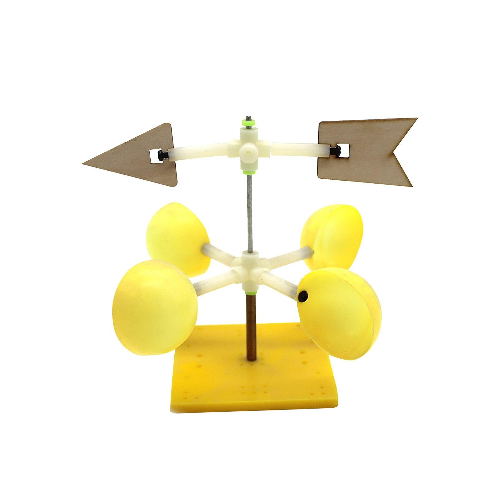 Brújula de viento de tecnología para manualidades, Material de experimento científico, paquete de modelo de paleta de viento para niños, Kit de modelo de paleta de viento DIY