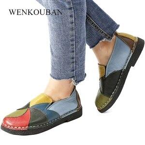 Image 3 - Designer Frauen Schuhe Aus Echtem Leder Flache Damen Sommer Mokassins Weibliche Slip Auf Casual Leder Müßiggänger Alpargatas De Mujer 2020
