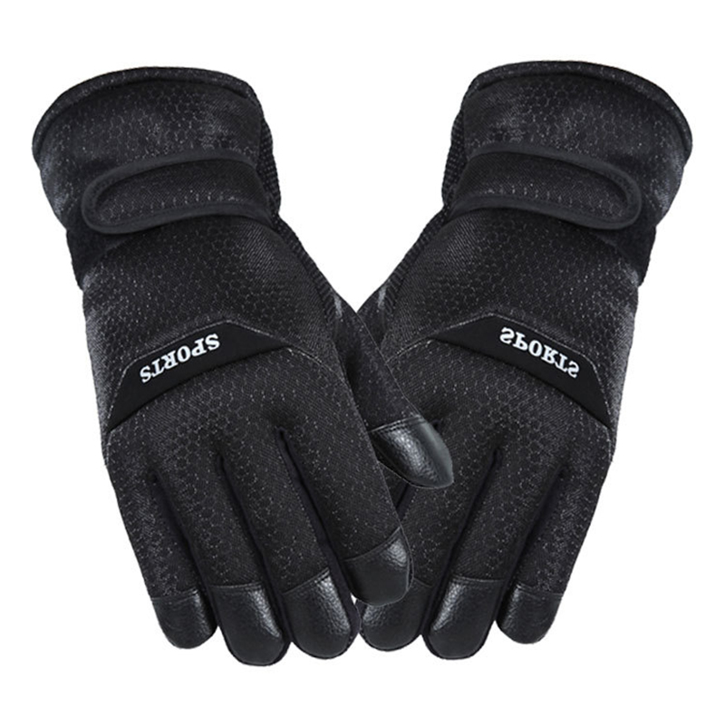 2019 Winter Fishing Non-slip Gloves Sports Riding Hiking Thickening Windproof Warm Glove Four Colors Fishing Gloves Tackle Pesca