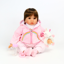 OtardDolls New Arrival Bebe Reborn Doll 21inch Silicon Vinyl Reborn baby dolls Lifelike Bonecas Tollder Toys for Girls Gift
