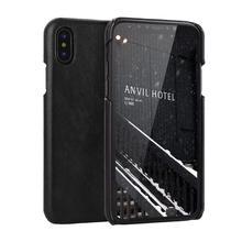 100% الجلد الحقيقي ل iPhone11 11Pro 11Promax الهاتف الغطاء الخلفي الأعمال ماتي تصميم آيفون 7 8plus جراب هاتف