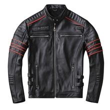 ปี! จัดส่งฟรี,ขาย black Mens เสื้อหนังแท้ cowhide Coat สั้น Slim มอเตอร์กะโหลกศีรษะ Biker แจ็คเก็ต,PLUS ขนาด
