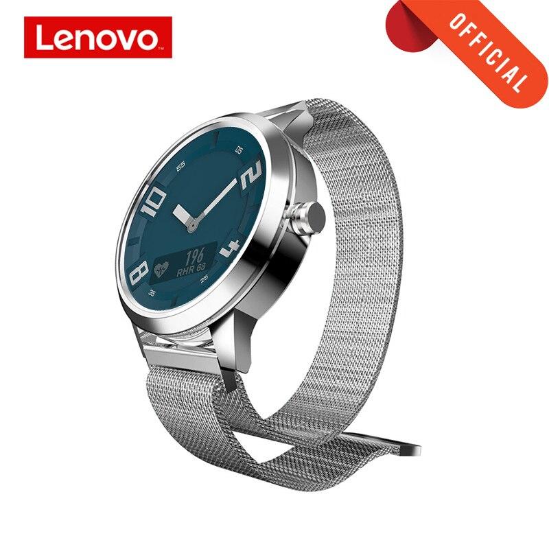 Lenovo Inteligente Relógio Relógio X Edição Esportes BT5.0 Ponteiro Luminoso OLED Smartwatch Tela Dupla Camada de Silicone Strap Relógio de Pulso
