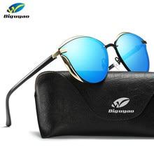 DIGUYAO – lunettes de soleil polarisées pour femmes, mode, lunettes de soleil yeux de chat pour dames, miroir, accessoires originaux oculos de sol