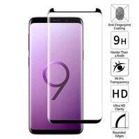 JGKK-funda de cristal templado para Samsung Galaxy S9, Protector de pantalla para Galaxy S9 plus S9 + 3D, carcasa frontal curvada