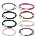 Kakany simples e elegante tecido pulseira de couro casal multi-cor seleção caber pulseira original diy jóias