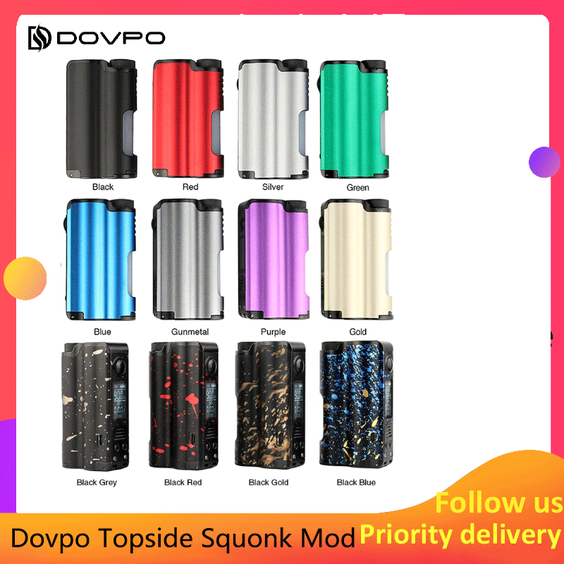 Dovpo Topside Squonk Mod 90W remplissage supérieur avec 10ml Squonk bouteille alimenté par unique 21700 vs athena squonk Rage Mod