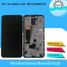 """6.0 """"الأصلي M & Sen ل Meizu 16X 16 X AMOLED شاشة الكريستال السائل الشاشة مع الإطار + اللمس محول الأرقام ل Meizu 16X M872Q/M872H عرض"""