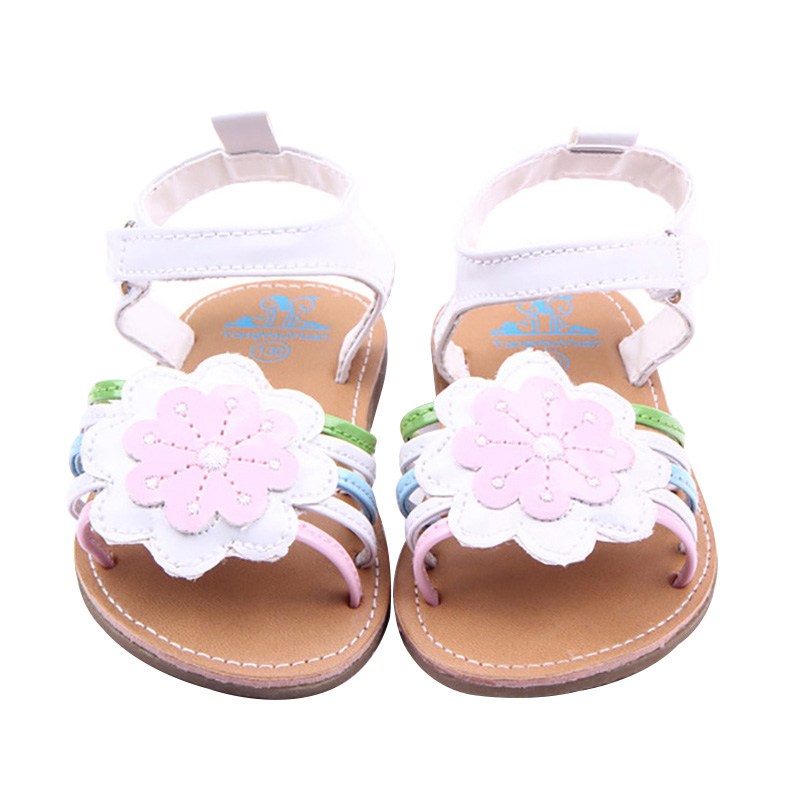 Baby Girl Sandals Summer Baby Girl Shoes Flower PU Leather Baby Girl Princess Shoes Newborn Baby Shoes Beach  Sandals
