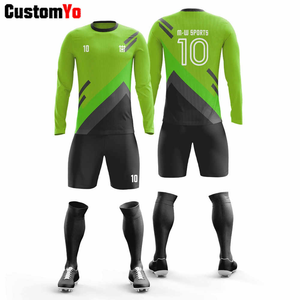 Team Customized Training Soccer Kits Sublimated Soccer Uniform Patch Logo Football Jerseys Set