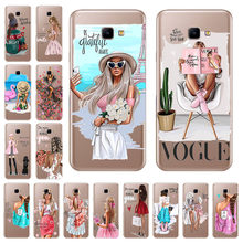 Fashion Super Mama Girl Baby Painted Soft TPU Cover For Samsung Galaxy J4 Core Case J410 J410F Case 6.0'' Silicone cover(China)