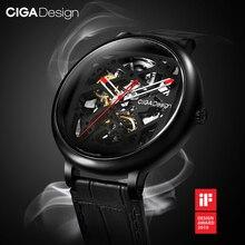 Ciga Ontwerp Horloge Automatische Mechanische Horloge Skeleton Rvs Case Sapphire Crystal Uurwerk Unisex