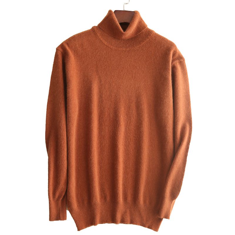 Men Sweaters 100% Cashmere And Wool Knitted Pullovers 2019 New Fashion Turtleneck Woolen Soft Man Jumpers Free Shipping