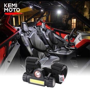 1.25-2.0″ for Can-am Maverick X3 Universal Roll Bar LED Light KEMIMOTO UTV ATV for Polaris RZR 800 900 1000 XP Turbo for cf moto