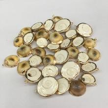 Natural Seashell Pendants & Necklace Irregular Shape Charms Pendant for Jewelry Making Handmade Bracelet Necklaces 5pcs
