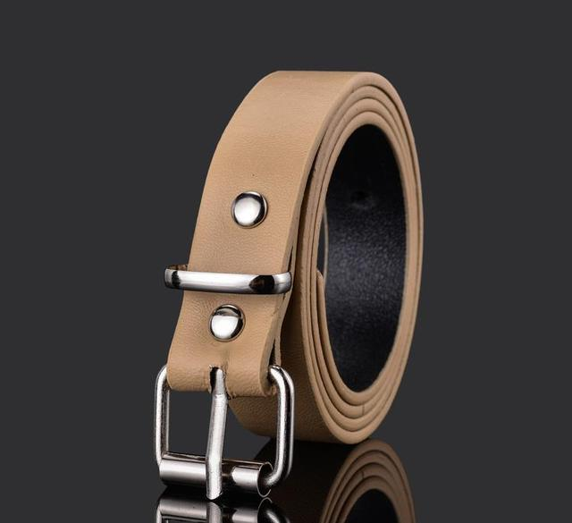 Thin Belt Candy Colours Strap Faux Leather Belt Waistband for Ladies Dress Shirt Wearing New Arrival Women's Fashion 2020 Buckle Fashion & Designs Women's Belt Women's Fashion