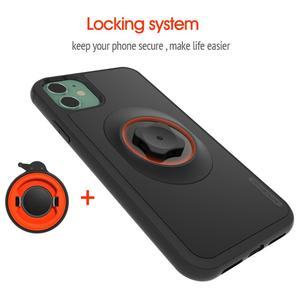 Image 2 - Soporte de teléfono para bicicleta con adaptador de montaje rápido, funda con Clip para cinturón de coche para iphone 11 pro XsMax 8 Plus 7 6 6s 5s SE