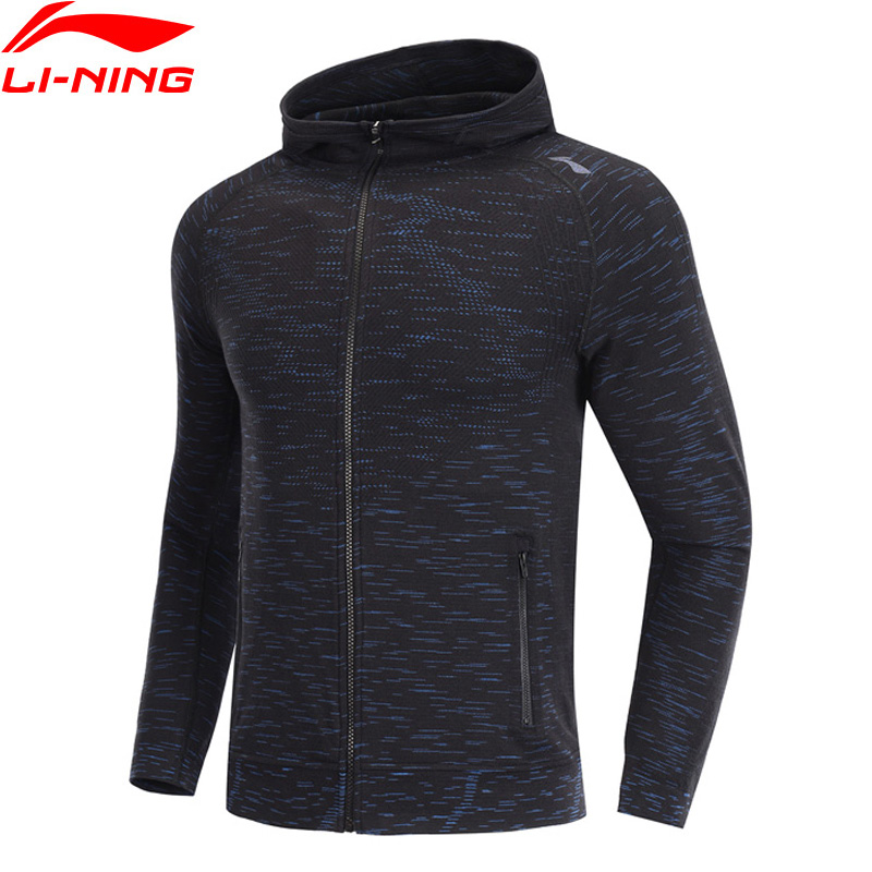 Li-Ning Men Running Hoodie Slim Fit Cotton Viscose Polyester Spandex LiNing Li Ning Comfort Sports Sweater AWDP099 MWW1572