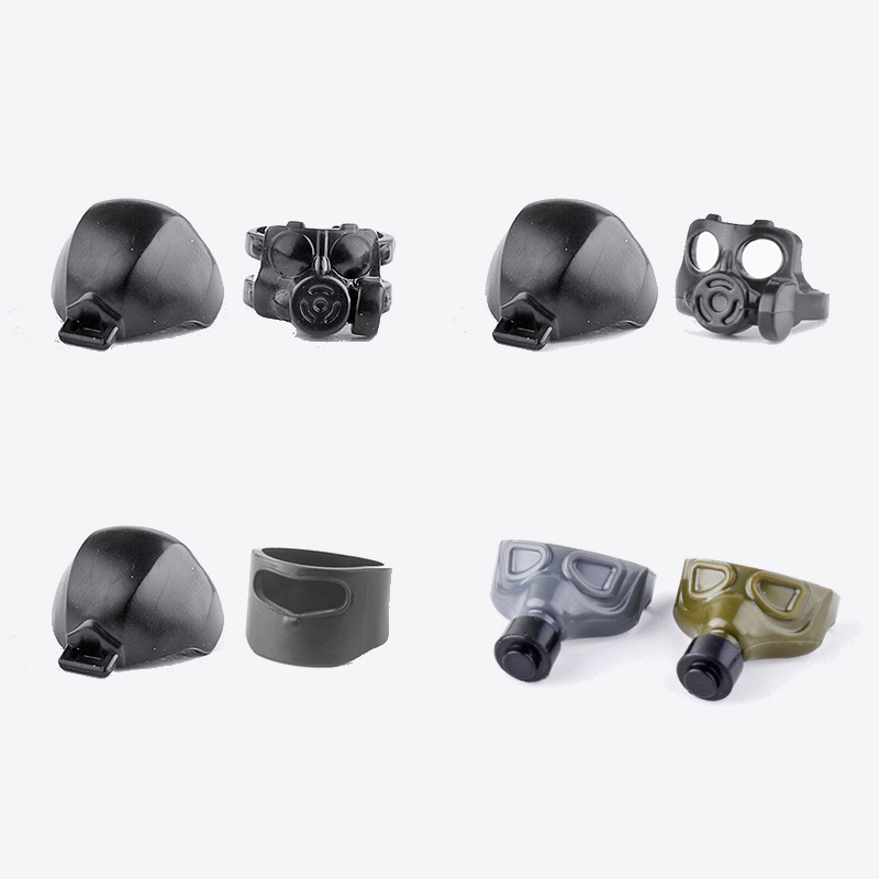 City Figures Accessories Military helmet Mask Blocks Army Special Forces Figures Weapons Mask Equipment Model moc Blocks toys