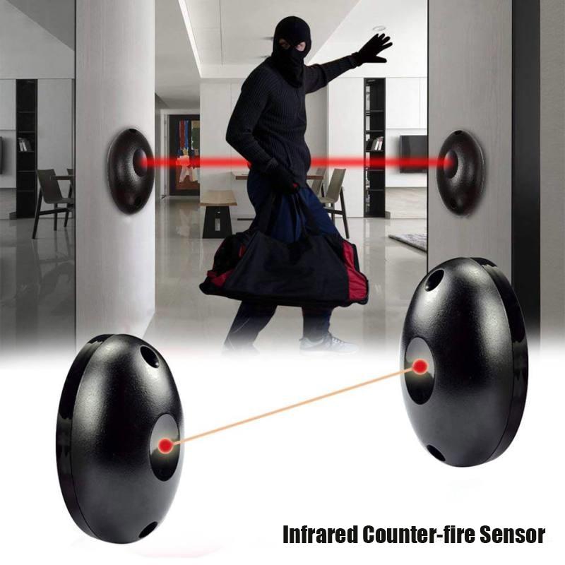 Single Beam Infrared Radiation Alarm Sensor Set Automatic Light Security Door Detector PI669