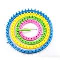 4 teile/satz DIY Runde Kreis Hut Knitter Knitting Loom Kit 4 Größe 14cm 19cm 24cm 29cm mit Haken und Nadeln DIY Handwerk Werkzeuge-in DIY-Stricken aus Heim und Garten bei