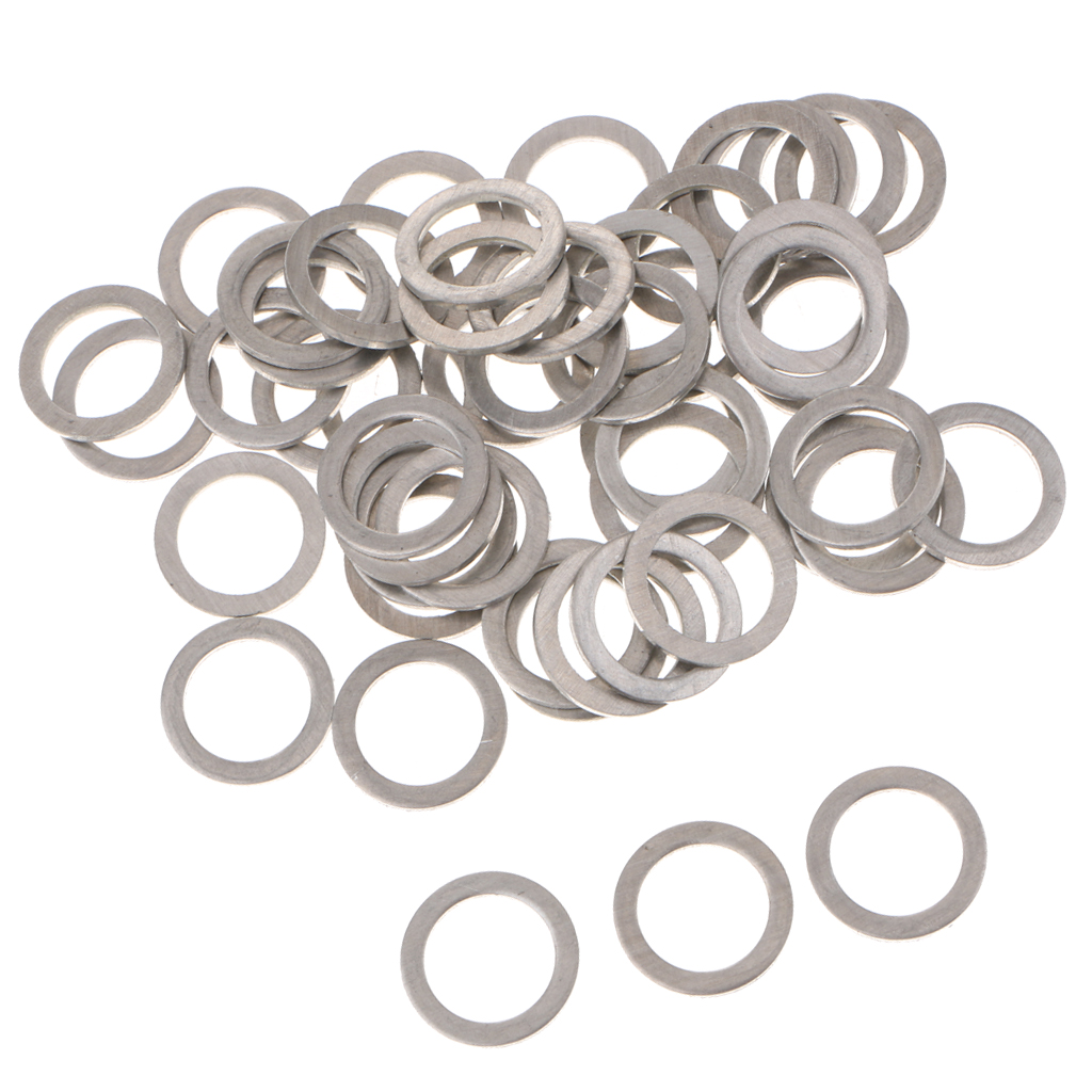 50PCS M14 Oil Drain Plug Gaskets Crush Washers Sealing Rings for Mazda